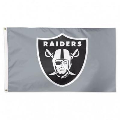 Oakland Raiders Silver Flag