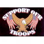 Support Our Troops Motorcycle Flag