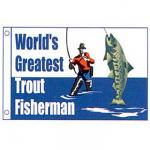 Worlds Greatest Trout Fisherman Novelty Flag