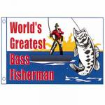Worlds Greatest Bass Fisherman Novelty Flag