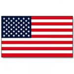 U.S. Flag Vinyl Decal - 1 7/16 x 2 1/2