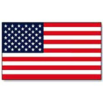 U.S. Flag Vinyl Decal - 2 1/4 x 4