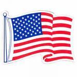 Wavy U.S. Flag Magnet