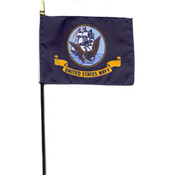 Navy Desk Flag - 4 x 6