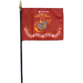 Marine Corps Desk Flag - 4 x 6