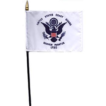 Coast Guard Desk Flag - 4 x 6