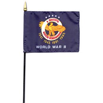 World War Ii Commemorative Mini Flag