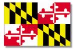 Maryland 4 x 6 Mini Flag