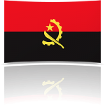 Angola 4 x 6 Mini Flag