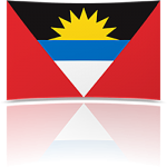 Antigua & Barbuda 4 x 6 Mini Flag