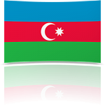 Azerbaijan 4 x 6 Mini Flag