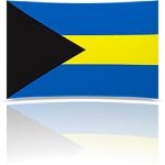 Bahamas 8 x 12 Mini Flag