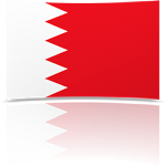 Bahrain 4 x 6 Mini Flag