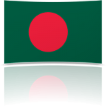 Bangladesh 4 x 6 Mini Flag