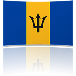 Barbados 4 x 6 Mini Flag