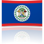 Belize 8 x 12 Mini Flag