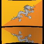 Bhutan 4 x 6 Mini Flag