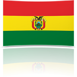 Bolivia 8 x 12 Mini Flag