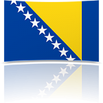 Bosnia-Herzegovina 4 x 6 Mini Flag