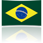 Brazil 4 x 6 Mini Flag