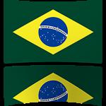 Brazil 8 x 12 Mini Flag