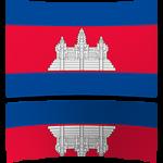Cambodia 4 x 6 Mini Flag