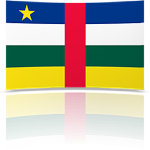 Central African Rep. 4 x 6 Mini Flag