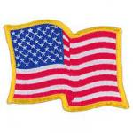 U.S. Wave Patch with Gold Border