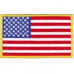 U.S. Rectangle Patch with Gold Border