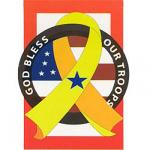 God Bless our Troops Decorative Flag