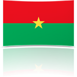 Burkina Faso Indoor Flag - Fringed or Unfringed