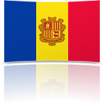 Andorra Indoor Flag - Fringed or Unfringed