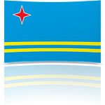 Aruba Indoor Flag - Fringed or Unfringed