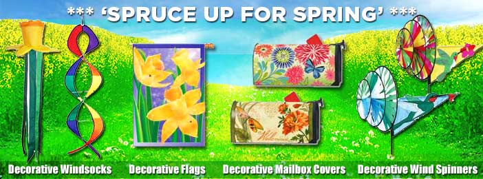 spring sale flags and banners